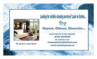 House Cleaning Services: Nepean, Ottawa, Gloucester...