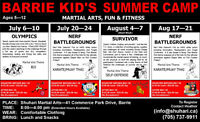 BARRIE KID'S SUMMER CAMP
