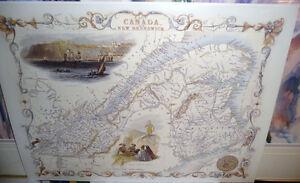Two Child's Victorian Maps, British Isles/Nova Scotia w/Graphics Stratford Kitchener Area image 7