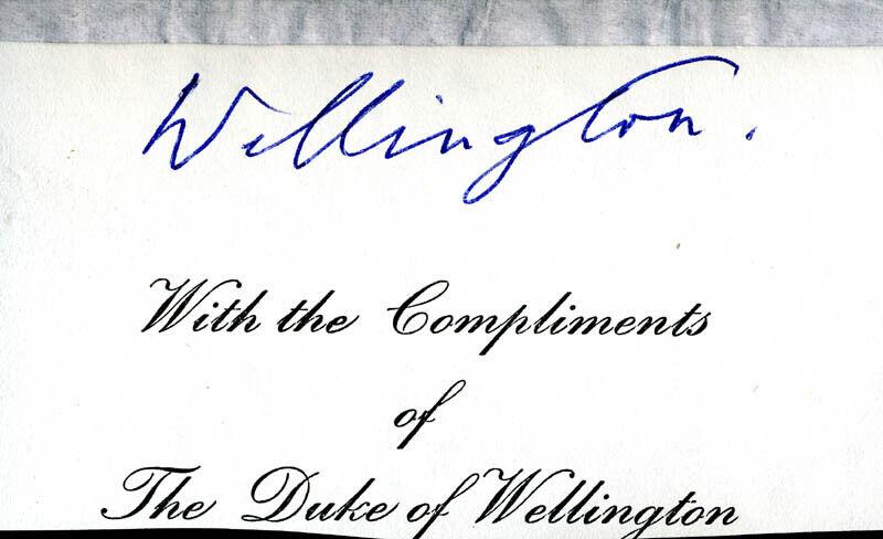 GERALD (DUKE OF WELLINGTON VII) WELLESLEY - SIGNATURE(S)