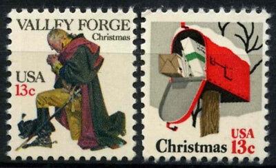 USA 1977 SG#1705-6 Christmas MNH Set #D55505
