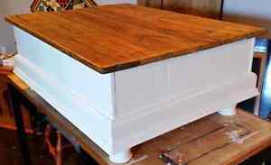 Custom Chest Style Coffee Table with Rustic Wood Top Peterborough Peterborough Area image 5