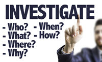 Looking for Experienced Private Investigators $20+ An Hour