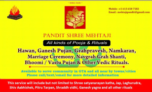 Mehtaji pandit is now available for vedic pooja