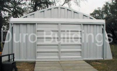 Durospan Steel 20x22x12 Metal Garage Shop Diy Home Building Kit Factory Direct