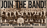 Free Bagpipe and Drumming Lessons