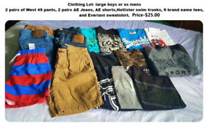 Men's XS, Boys XL Clothing Lot