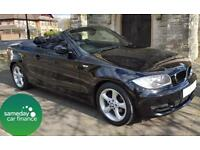 £193.35 PER MONTH BLACK 2009 BMW 118 2.0 SPORT CONVERTIBLE PETROL MANUAL