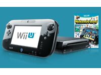 Wii U Premium 32GB Black Console + 2 Games!!