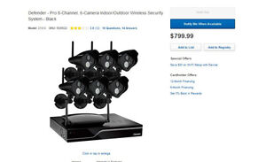 Wireless 6 Camera Indoor/Outdoor Security System