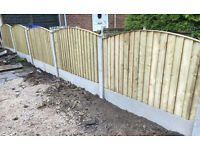 🌲 Pressure Treated High Quality Close Board Feather Edge Bow Top Wooden Garden Fence Panels🌲
