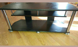 Black  3 layer tv stand