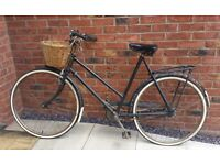 Antique Vintage 1930s Nun's Bike with gears, basket, new tires and serviced