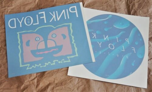 PINK FLOYD division bell + pulse 1994/95 ORIG PRO WINDOW CLING SET decal sticker