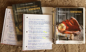Introductory Statistics Textbook & Solutions Manual