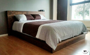 NEW RUSTIC SOLID WOOD BED FRAME + HEADBOARD BY ORDER Cornwall Ontario image 3