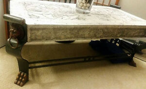 Statement Piece Stone Top Coffee Table London Ontario image 1