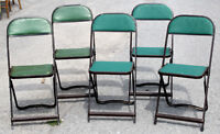 Set of 5 Card Table Chairs