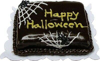 Dollhouse Miniature Happy Halloween Cobweb Sheet Cake by Bright deLights