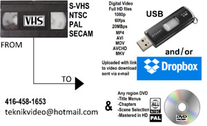 WE Convert VHS video cassettes to DVD and USB