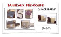 """(443-7)  LIQUIDATION..  PANNAUX EN """"MDF / PRESS"""" PRÉ-COUPÉ 0.20$"""