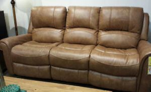 BRAND NEW LEATHER POWER RECLINING COUCH -  JUST DELIVERED