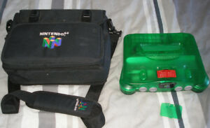 Nintendo 64 N64 Jungle Green Console + Sac de Transport