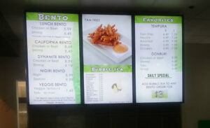 Digital LCD Menu Boards, LED Menu Boards in Edmonton, Menuboard