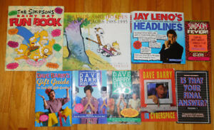9 Comedy books from the 90's for $6