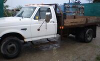 97 FORD F-Super Duty Diesel Truck with 11 ft flat bed box