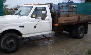 97 FORD Super Duty Diesel Truck, 11 ft flat bed, low kms