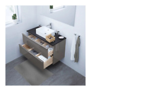 New IKEA GODMORGON Sink cabinet with 2 drawers, high gloss gray
