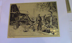 The Best of Lionel Barrymore, 4 Gold-Etch Prints Kitchener / Waterloo Kitchener Area image 6