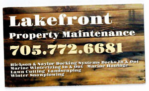 LAKEFRONT PROPERTY MAINTAINCE Peterborough Peterborough Area image 1