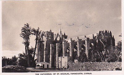 CYPRUS POSTCARD FAMAGUSTA THE CATHEDRAL OF ST NICHOLAS SOTERIOU 1948