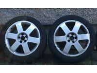 Pair of Audi TT MK1 alloy wheels