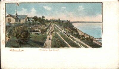 Milwaukee WI Whitefish Bay Resort c1900 Private Mailing Card Wi Resort