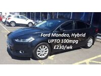 PCO CARS FOR HIRE/RENT FORD MONDEO HYBRID/BMW 5 SERIES/MERCEDES ECLASS FROM £230 UBER READY