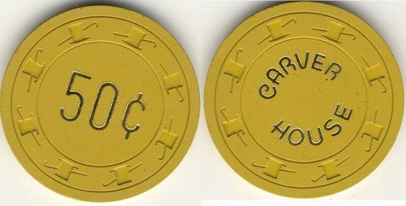Carver House Casino Las Vegas NV 50cent Chip