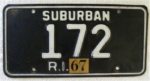 1967 Rhode Island Suburban, #172 RI License Plate