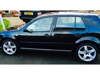 Volkswagen Golf 17 inch alloys with nearly new tyres, Genuine VAG