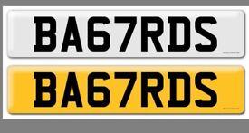 BA67RDS UK registration number