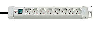 Brennenstuhl Steckdosenleiste 8-fach Lichtgrau Premium-Line Mehrfachsteckdose