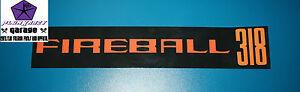 FIREBALL 318 Air Cleaner Decal,CHRYSLER VALIANT VF,VG