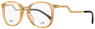 Fendi Oval Eyeglasses FF0038 SLI Transparent Peach/Gold/Black 50mm (Fendi Eyeglass)
