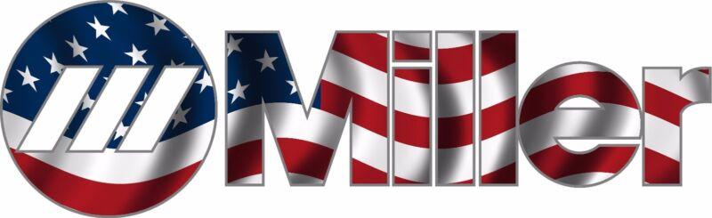 MILLER WELDER AMERICAN FLAG DECAL STICKER - SET OF 2