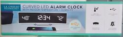 La Crosse Technology Curve LED Dual Alarm Clock with Snooze and USB Port