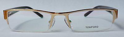 Tom Ford FT6003 Gold Half Rim Optical Glasses, 53mm, 18mm, 135mm, Unisex