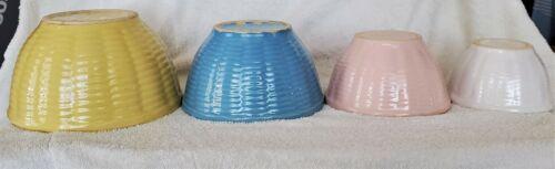 4pc Set Vintage Watt Oven Proof Nesting Serving/Mixing Bowls