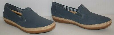 Clarks Danelly Iris Leather Slip On Flats Denim Women's Size 7.5M NEW Denim Leather Flats